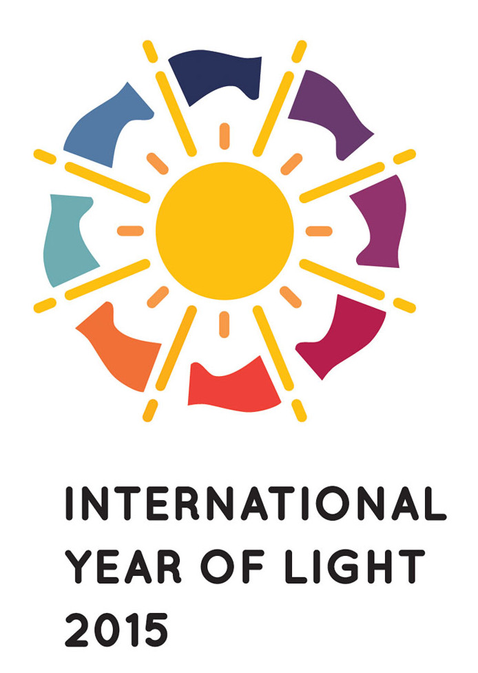 Official logo of the International Year of Light 2015 (vertical).